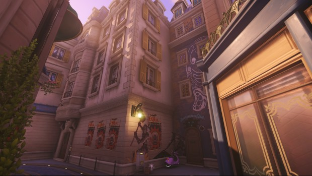 Overwatch screenshot of the graffiti on the Paris map