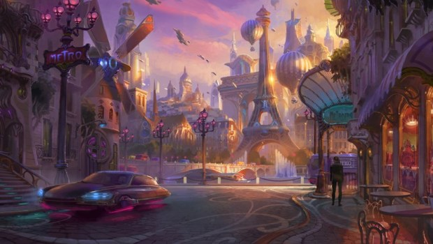 Overwatch official artwork for the Paris map