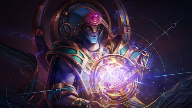 Artifact artwork for Dota 2's Oracle
