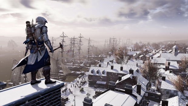 Assassin's Creed 3 Remastered screenshot of a winter environment