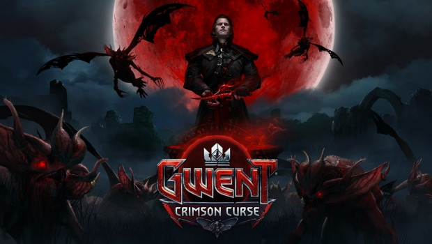 Gwent official artwork and logo for the Crimson Curse expansion