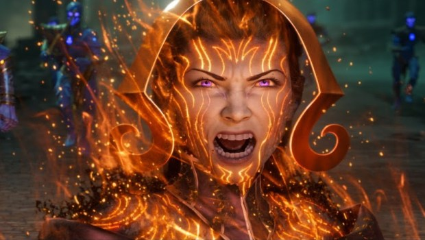 MTG Arena Liliana Vess War of the Spark official artwork from the promo trailer