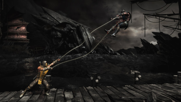 Mortal Kombat X screenshot of Scorpion using his hook