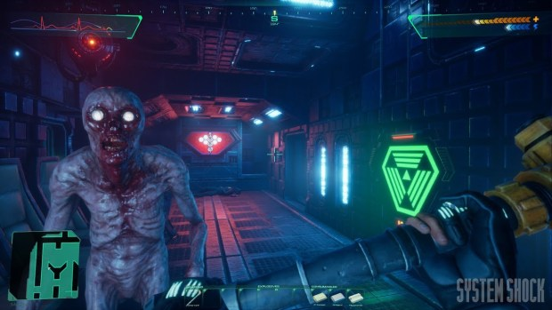 System Shock remaster screenshot of some melee combat