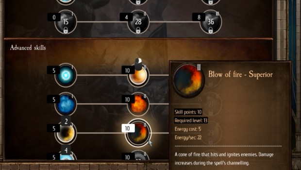 Warhammer: Chaosbane screenshot showing the talent system