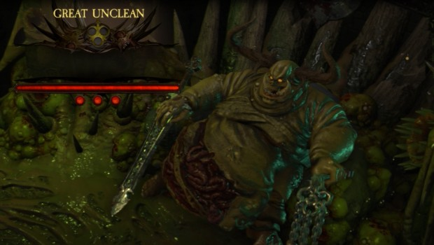 Warhammer: Chaosbane screenshot of a Great Unclean One boss