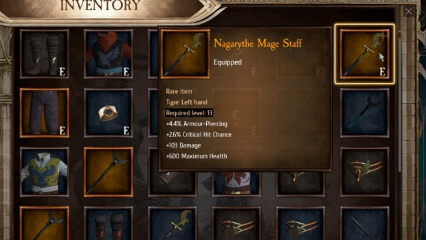 Warhammer: Chaosbane screenshot of the items