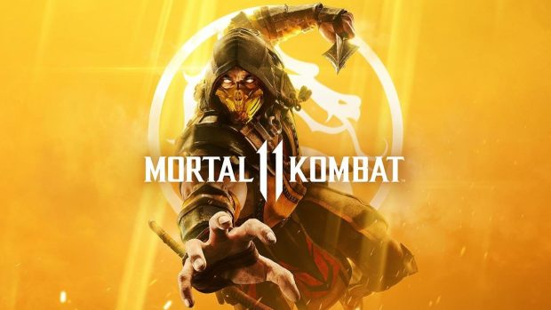 Mortal Kombat 11 official cover artwork showing Scorpion
