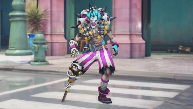 Overwatch Anniversary 2019 screenshot of Circus/clown Junkrat