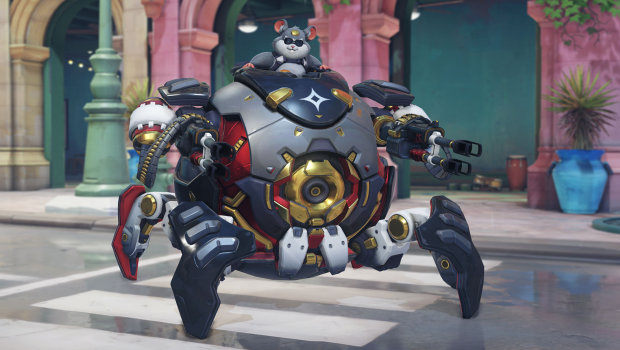 Overwatch Anniversary 2019 screenshot of High Roller Wrecking Ball