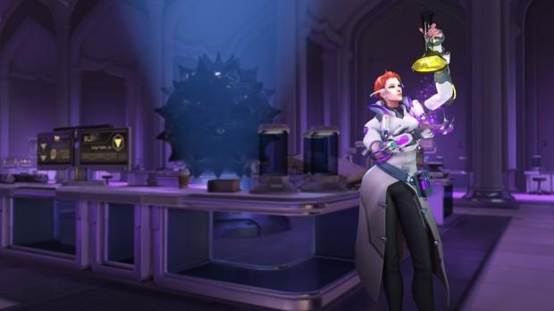 Overwatch Archives 2019 screenshot of the new Scientist Moira skin