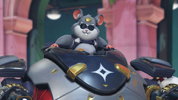 Overwatch screenshot of Wrecking Ball wearing some cool shades