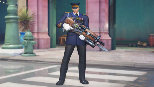 Overwatch Anniversary 2019 screenshot of Formal Soldier 76
