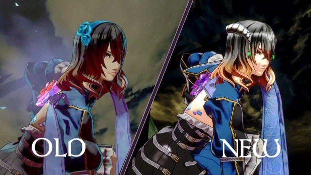 Bloodstained: Ritual of the Night comparison screenshot showing both the old and new visuals