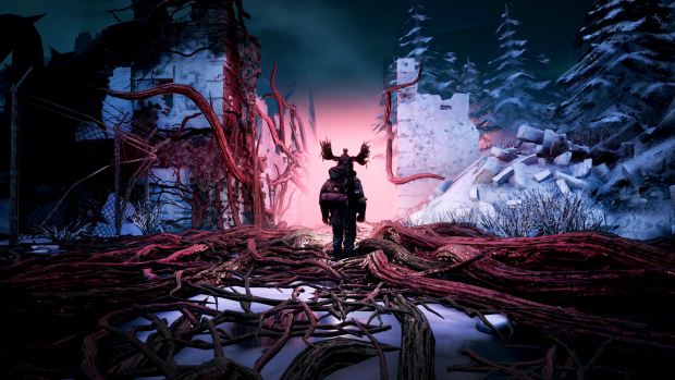 Mutant Year Zero screenshot of Big Khan in the distance