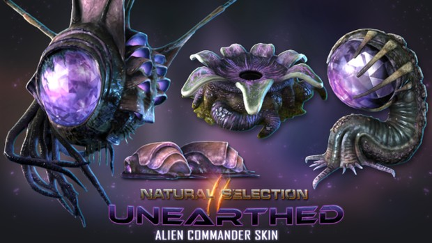Natural Selection 2 screenshot of the new Unearthed alien commander skins