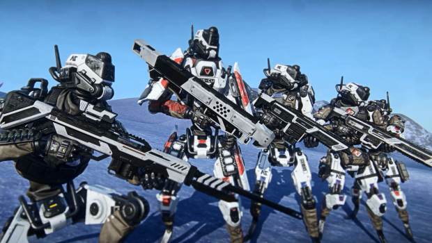 Planetside 2 screenshot of the Nanite System Operatives lined up