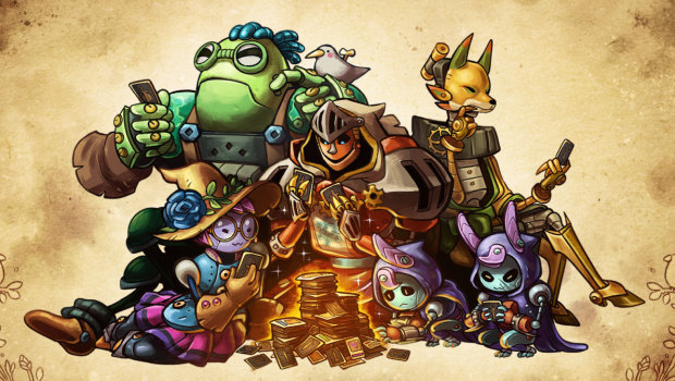 SteamWorld Quest official artwork showing off the characters
