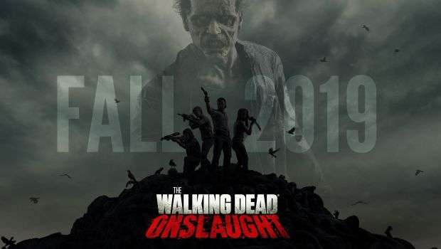 The Walking Dead Onslaught official artwork with logo