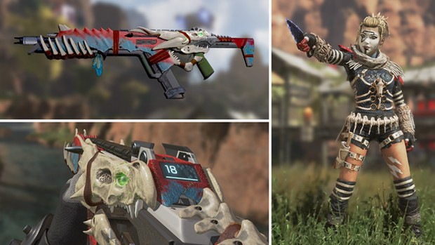 Apex Legends screenshot of Wraith and R301 legendary items