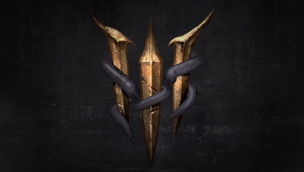 Baldur's Gate 3 teaser logo from the Larian website