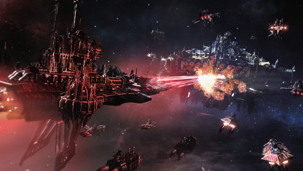 Battlefleet Gothic: Armada 2 official screenshot from the Chaos focused expansion
