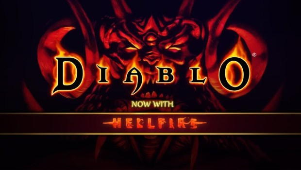 Diablo with Hellfire expansion official logo artwork