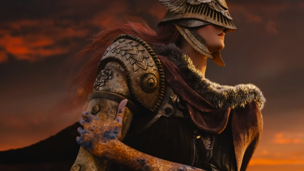 The Elden Ring screenshot of the female knight from the trailer