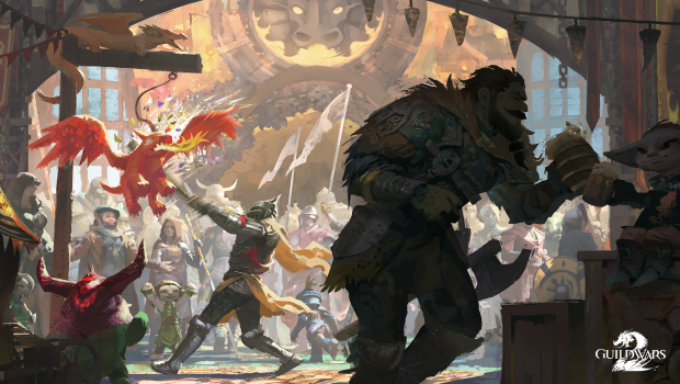 Guild Wars 2 official artwork for the brand new Dragon Bash Festival