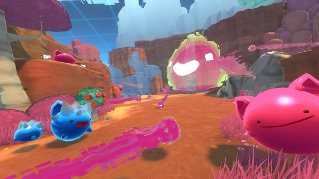 Slime Rancher screenshot of the new Glitch Slimes