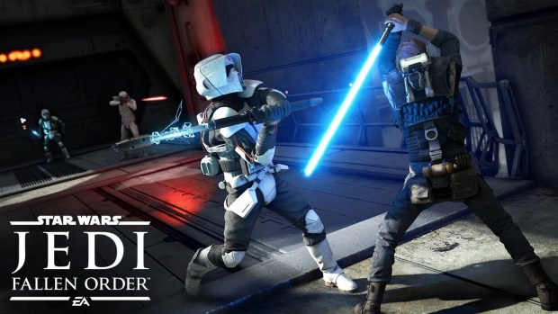 Star Wars Jedi: Fallen Order official screenshot of a close quarters duel