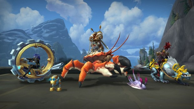 World of Warcraft Patch 8.2 screenshot of the new ground mounts