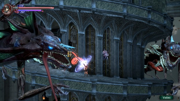 Bloodstained: Ritual of the Night screenshot of the great Worm boss