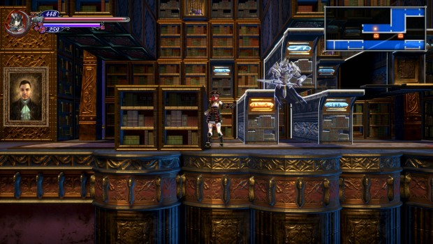 Bloodstained: Ritual of the Night screenshot of the library level