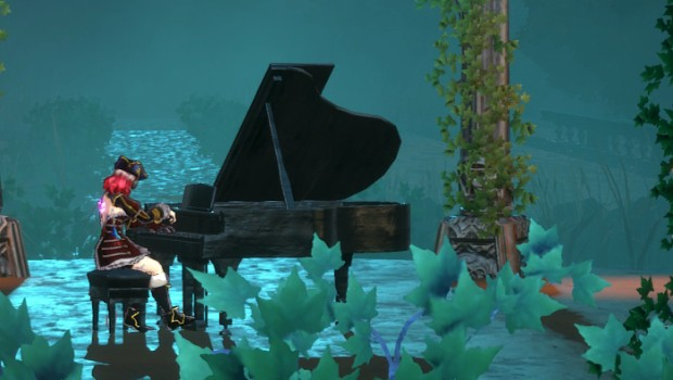 Bloodstained: Ritual of the Night piano in-game screenshot