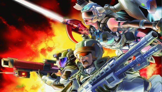 Official artwork and logo for the PC version of Earth Defense Force 5