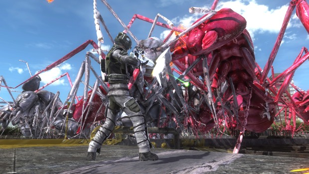 Earth Defense Force 5 PC screenshot of a giant ant attack