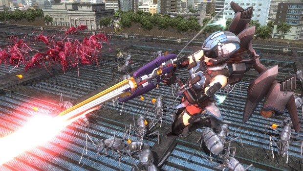 Earth Defense Force 5 PC screenshot of the Wing Diver flying around