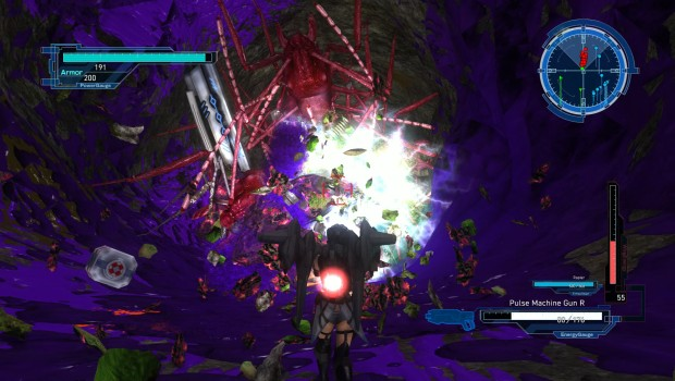 Earth Defense Force 5 PC screenshot of some absolute carnage in the tunnels