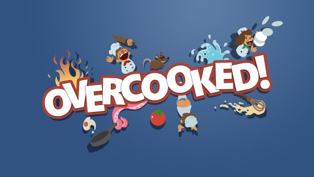 Official artwork and logo for the game Overcooked
