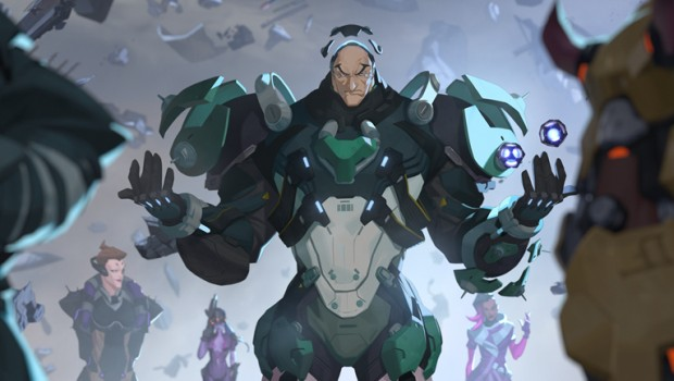 Overwatch official artwork for the hero Sigma