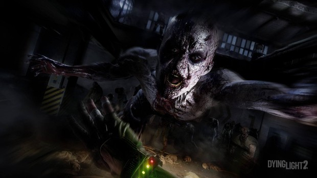 Dying Light 2 screenshot of a zombie jumping at the player