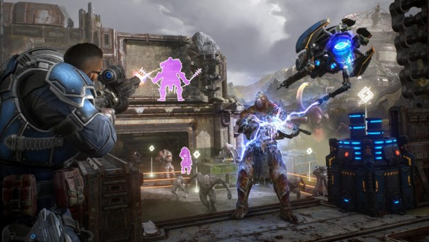Gears 5 official screenshot showing off the Horde mode
