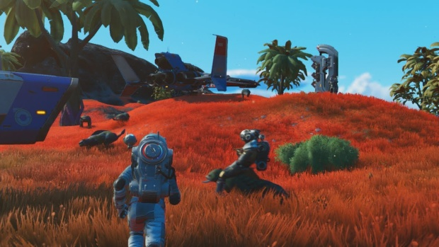 No Man's Sky screenshot from the trailer of the massive Beyond update