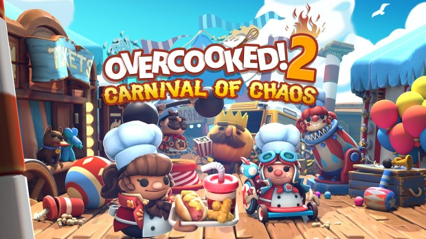 Overcooked! 2 artwork and logo for the Carnival of Chaos DLC