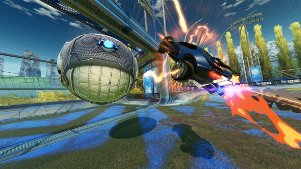 Rocket League screenshot of a goal