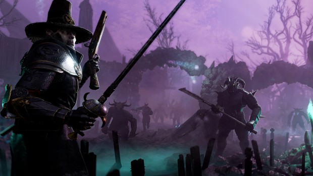 Vermintide 2 screenshot showing Saltzpyre and the Beastmen