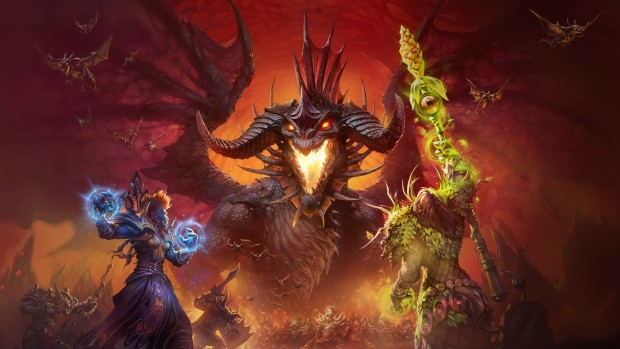 World of Warcraft: Classic artwork of the Onyxia battle