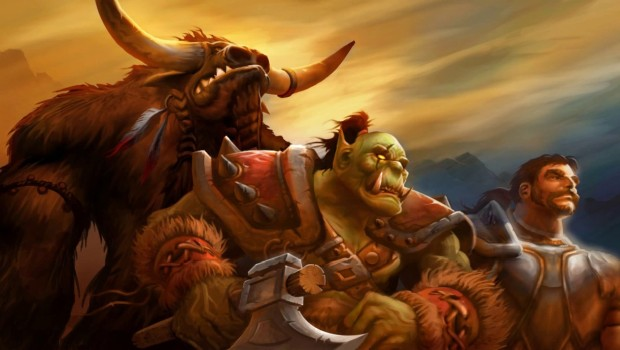 World of Warcraft: Classic concept art showing an Orc, Tauren and Human
