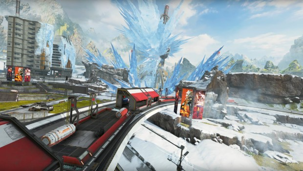 Apex Legends screenshot of the new and icy World's Edge map